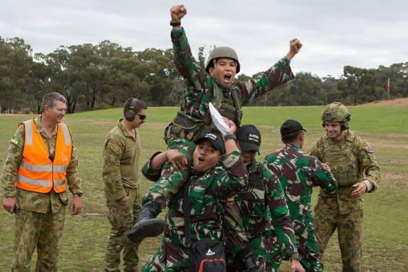 Serda Woli Hamsan Prajurit TNI Berprestasi Penembak Terbaik Australian Army of Skill Arms at Meeting 2017