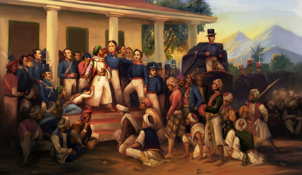 Gambar Perlawanan Pangeran Diponegoro