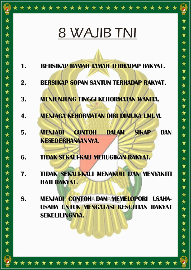 8 Wajib TNI